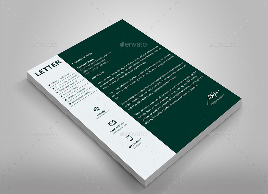 Modern Business Card + Letterhead by dotnpix   GraphicRiver