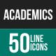Academics Line Icons