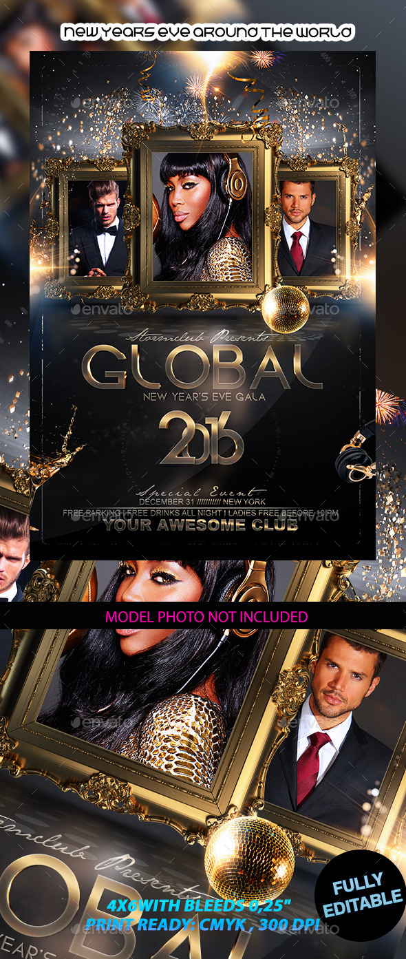 New Years Eve Around the World - Events Flyers