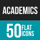 Academics Flat Multicolor Icons