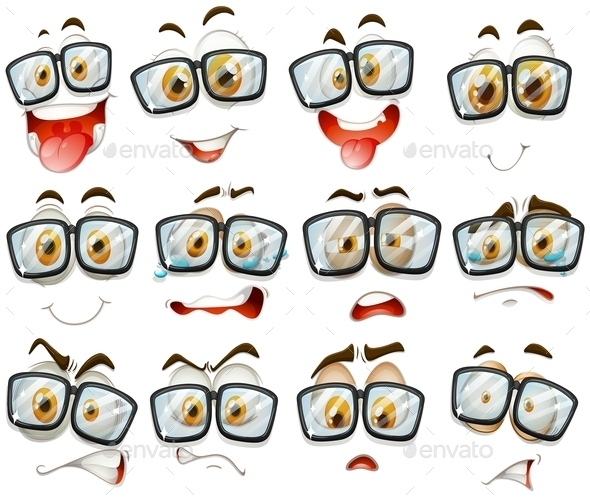 Facial Expression with Glasses - Miscellaneous Conceptual