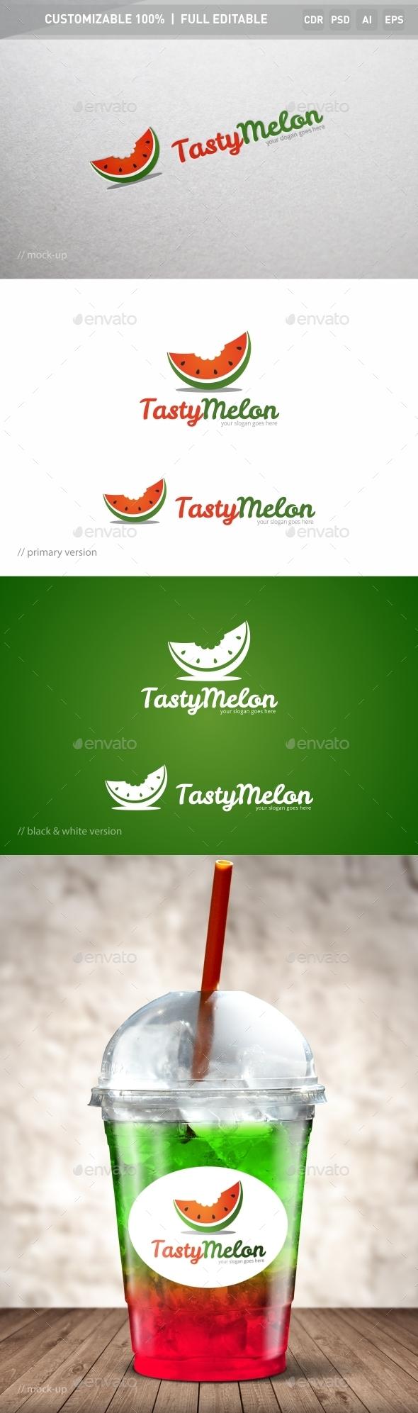 Tasty Melon Logo Template - Food Logo Templates