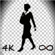 Woman Walk With Baby Cart - 53