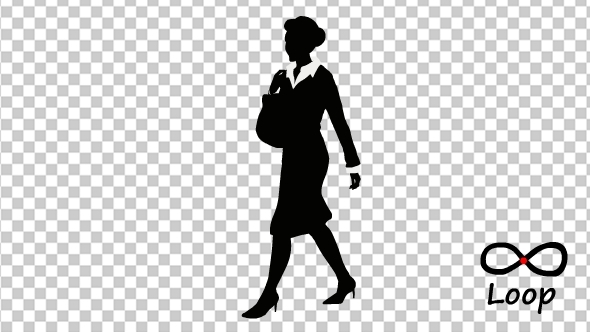 Businesswoman Front Walking