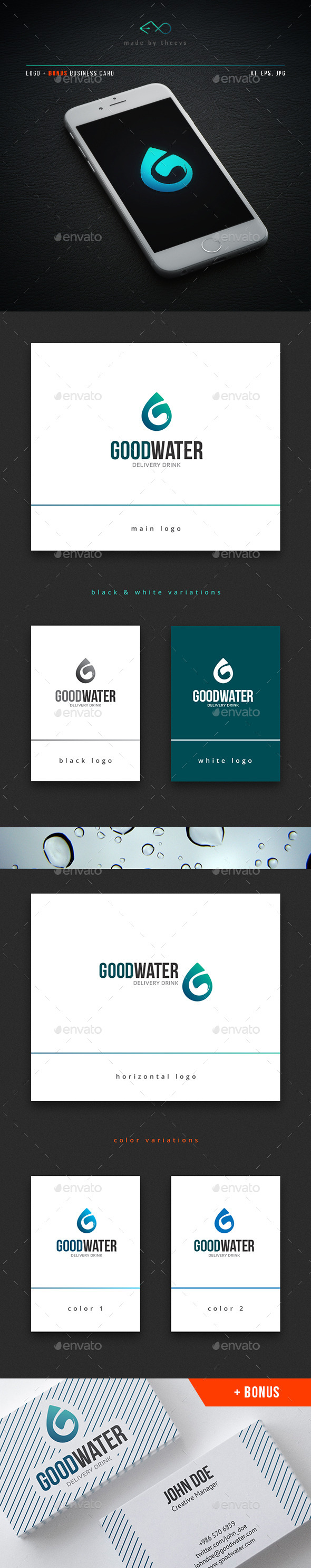 Goodwater - Letters Logo Templates