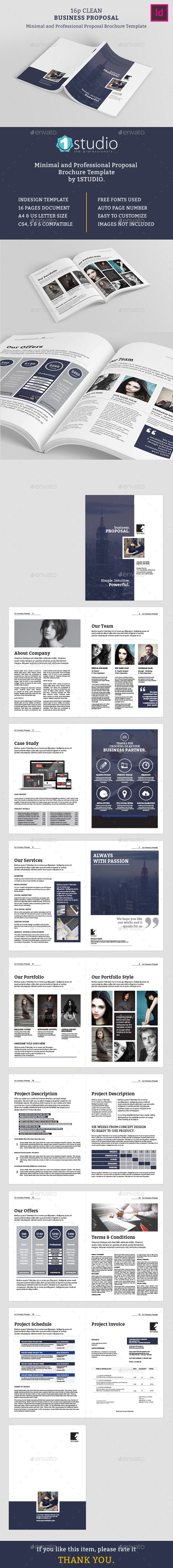 Clean Proposal and Brochure Template - Proposals & Invoices Stationery