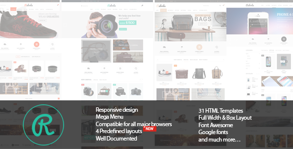 Raboda - Responsive eCommerce HTML5 Template - Shopping Retail