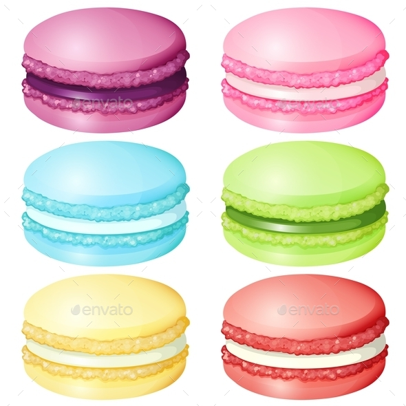 Macaron in Different Flavor - Food Objects