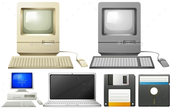 Personal Computer with Monitors and Keyboards - Computers Technology