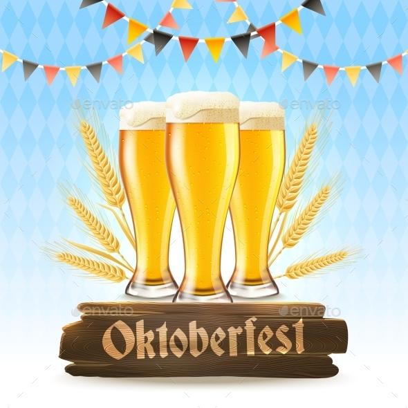 Oktoberfest Poster Realistic - Food Objects