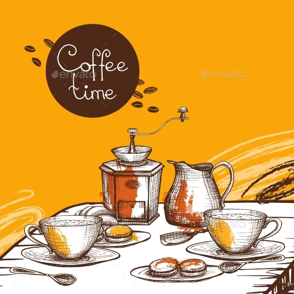 Coffee Time Background Poster - Backgrounds Decorative