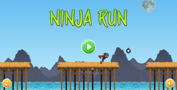 Ninja Run - HTML5 Mobile Game (Capx)