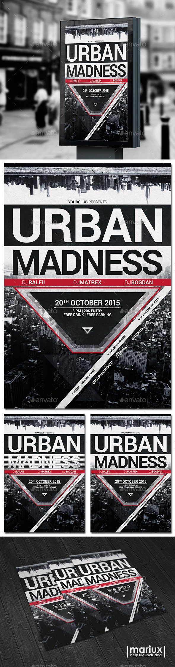 Urban Madness Party Flyer - Clubs & Parties Events