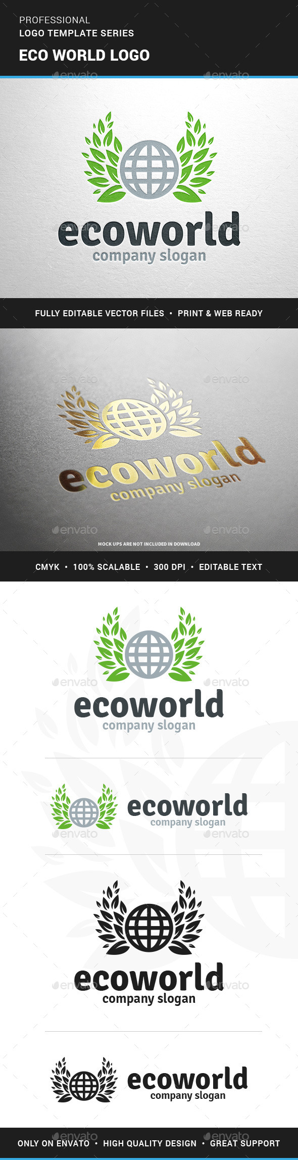 Eco World Logo Template