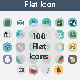 100 Flat Vector Icon - GraphicRiver Item for Sale