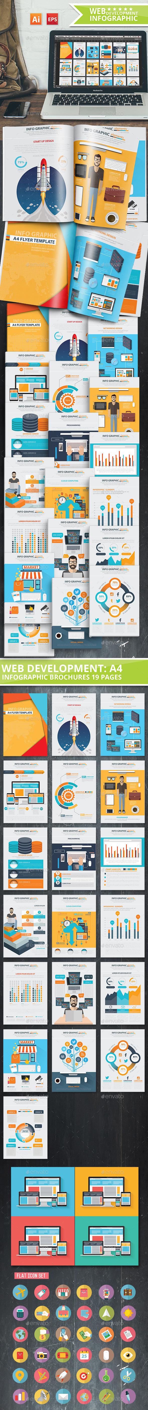 Web Development & SEO Infographics 19 Pages Design - Infographics