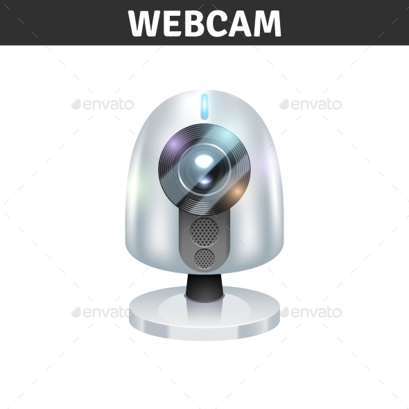 White Webcam Illustration  - Web Technology