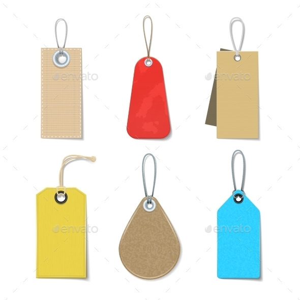 Colored Labels And Tags Set - Retail Commercial / Shopping