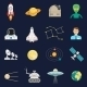 Space Cosmos Flat Icons Set - GraphicRiver Item for Sale