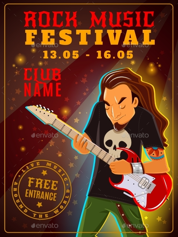 Rock Music Festival Poster - Miscellaneous Conceptual