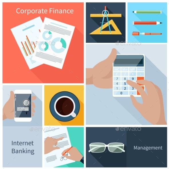 Finance Web Banking Management Concept