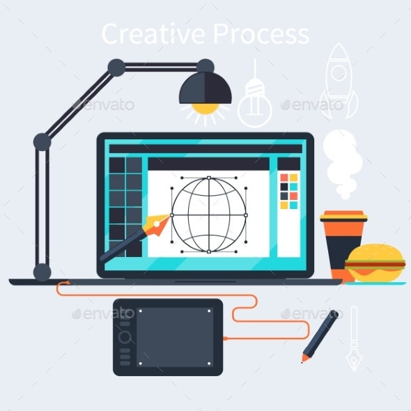 Creative Process Of Designer Concept