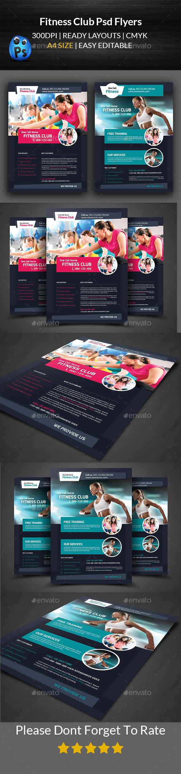 Fitness Flyer - Gym Flyer Templates - Sports Events