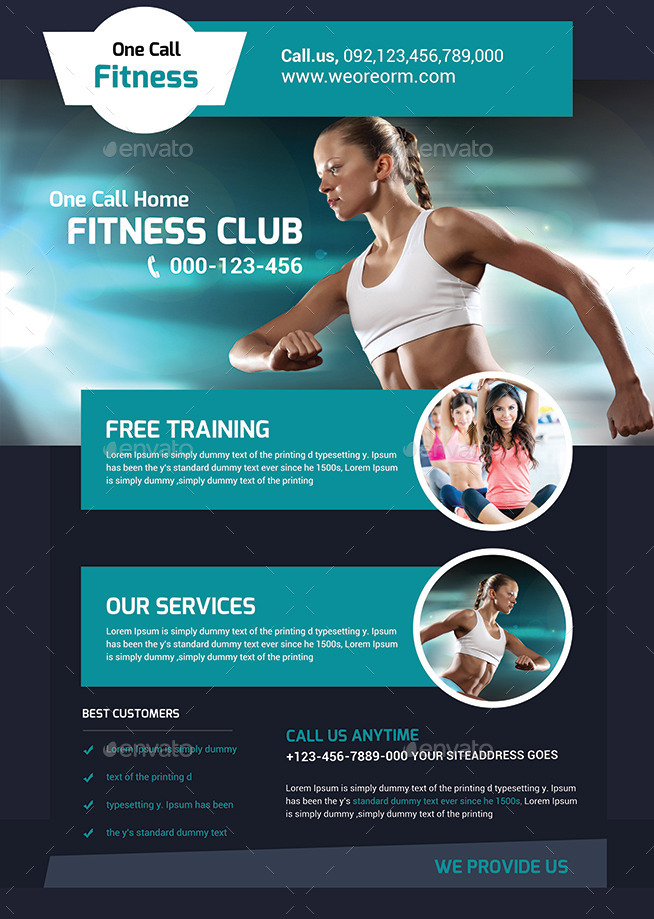 Fitness Flyer - Gym Flyer Templates By Afjamaal | Graphicriver