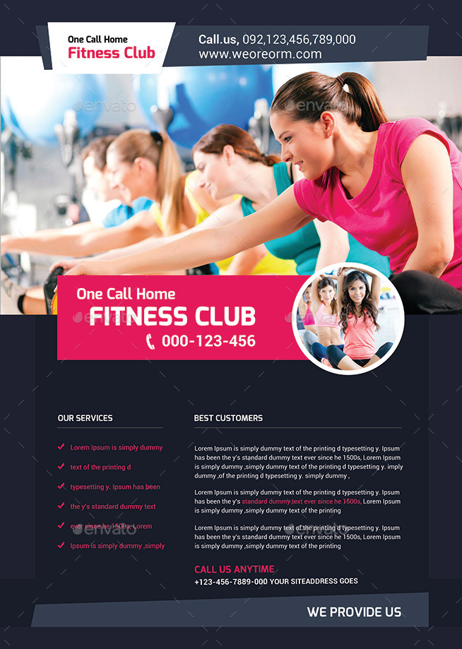 Fitness Flyer  Gym Flyer Templates By Afjamaal  Graphicriver