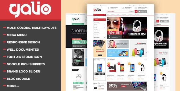 Galio - Mega Shop Responsive HTML Template - Shopping Retail