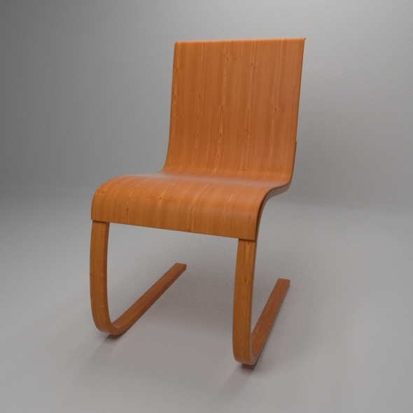 Aalto Chair model 21 - 3DOcean Item for Sale
