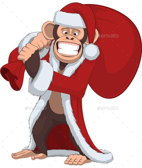 Funny Monkey - Christmas Seasons/Holidays
