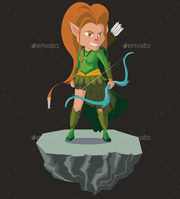 Elf Warrior - Vectors