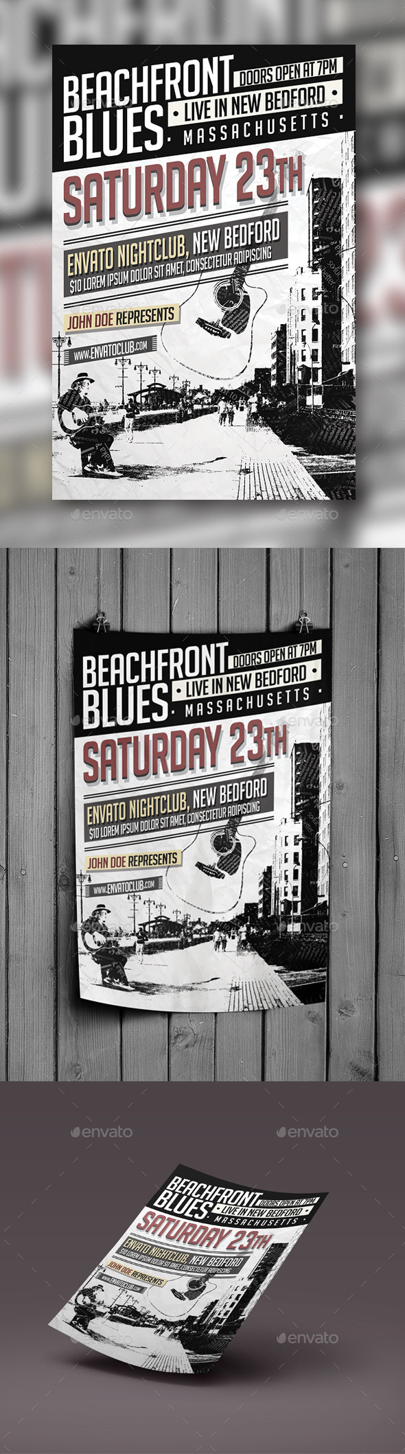Beachfront Blues Flyer