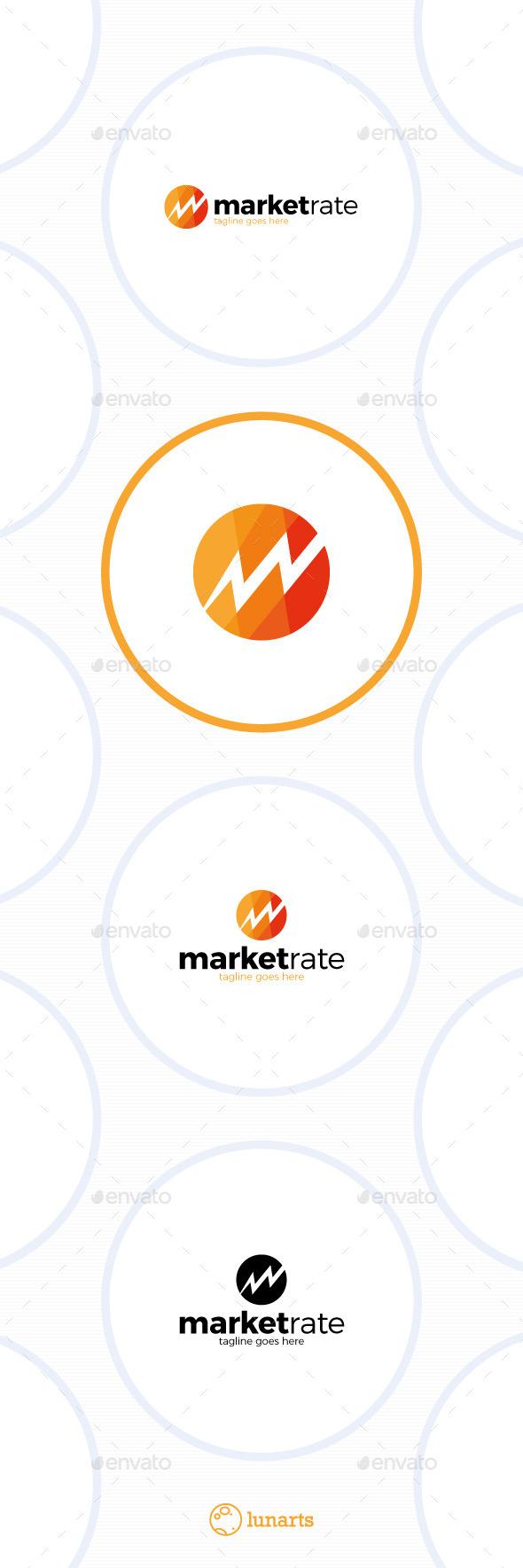Market Rate Logo - Letter M - Letters Logo Templates