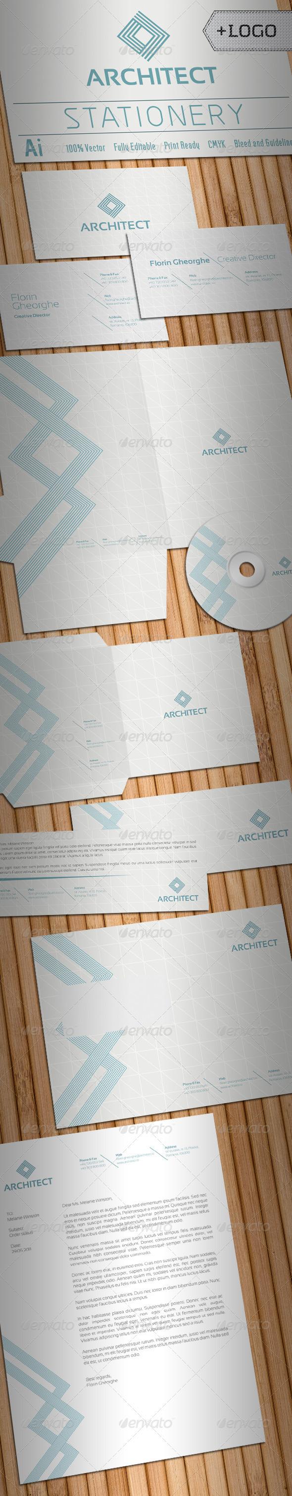 Architect Stationery - Stationery Print Templates