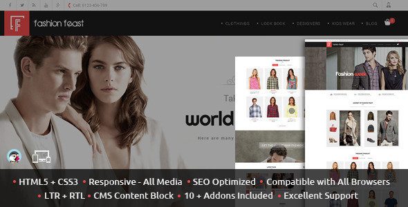 Fashion Feast - Prestashop Responsive Theme