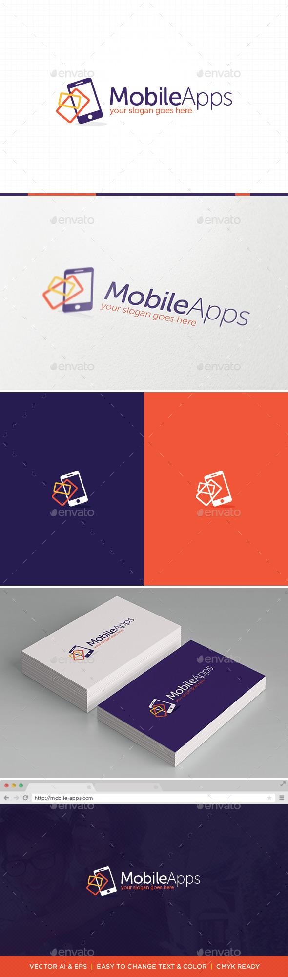 Mobile Apps Logo - Symbols Logo Templates