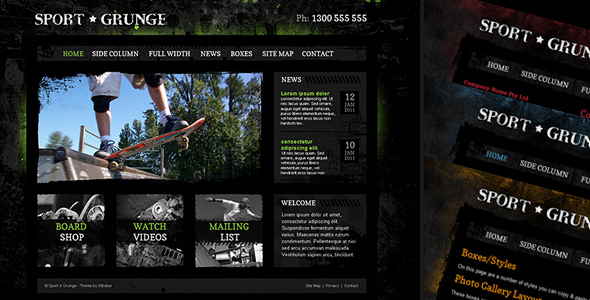 Free Download Sport and Grunge - HTML Nulled Latest Version