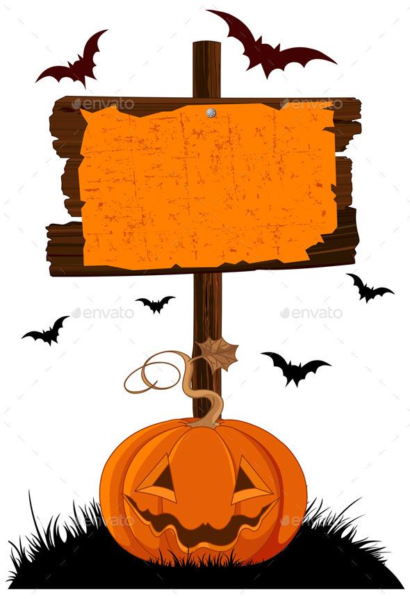 Halloween Wooden Sign - Halloween Seasons/Holidays