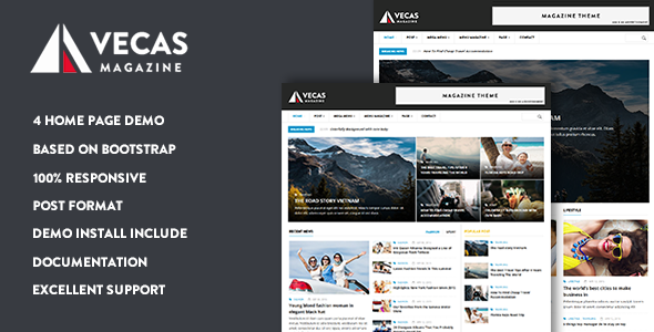 Vecas – Responsive Magazine News Drupal Theme