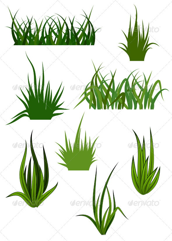 Green grass elements for design by seamartini graphicriver for Designing with grasses
