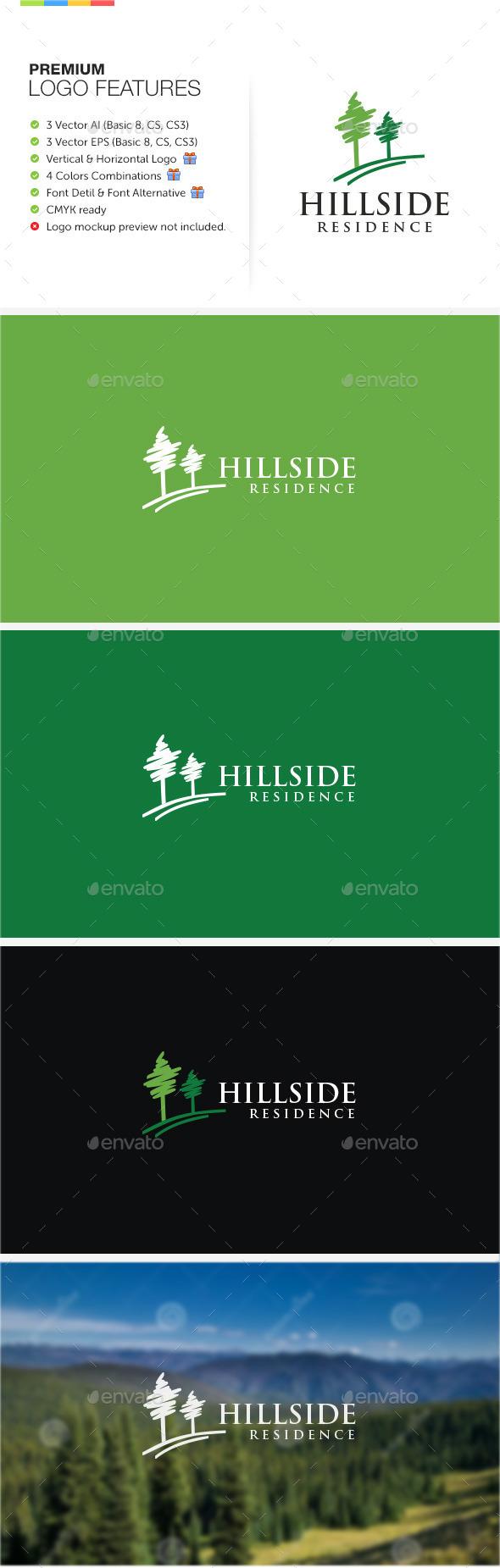 Hillside Residence Logo - Nature Logo Templates