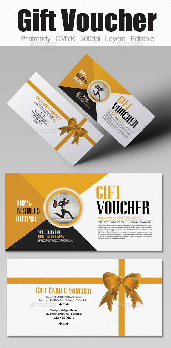 Business Gift Voucher Template - Cards & Invites Print Templates