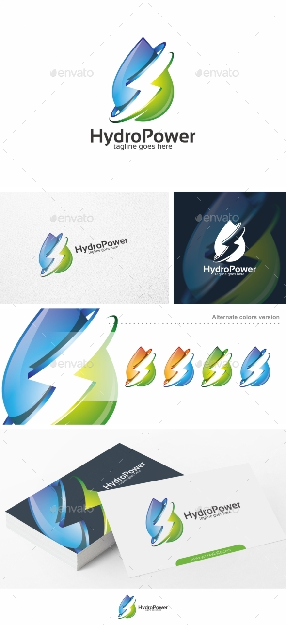 Hydro Power Water Logo Template