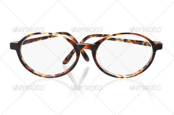 Old fashion eyeglasses - Stock Photo - Images