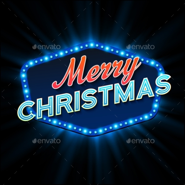 Merry Christmas Lights Frame - Christmas Seasons/Holidays