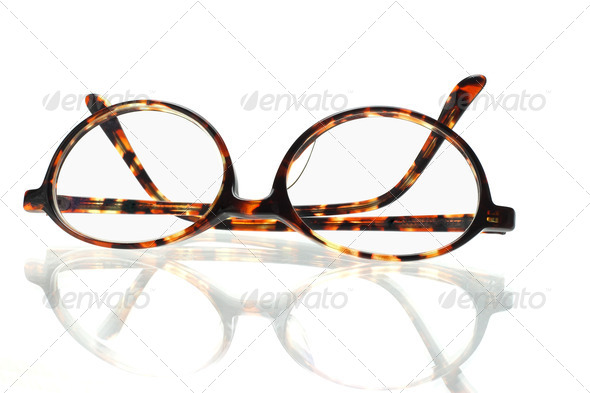 Old fashion eyeglasses - Stock Photo - Images