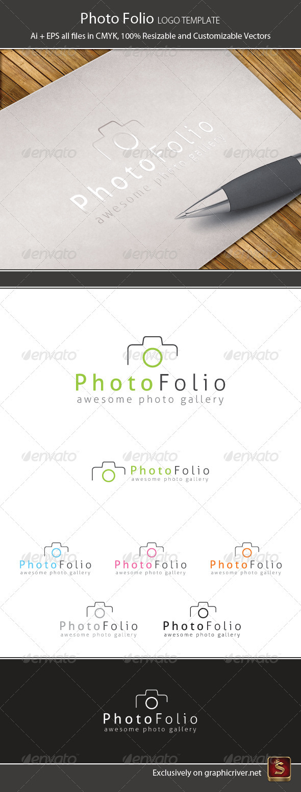 Photo Folio Logo Template - Vector Abstract