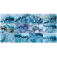 Druse blue crystals Agate SiO2 silicon dioxide